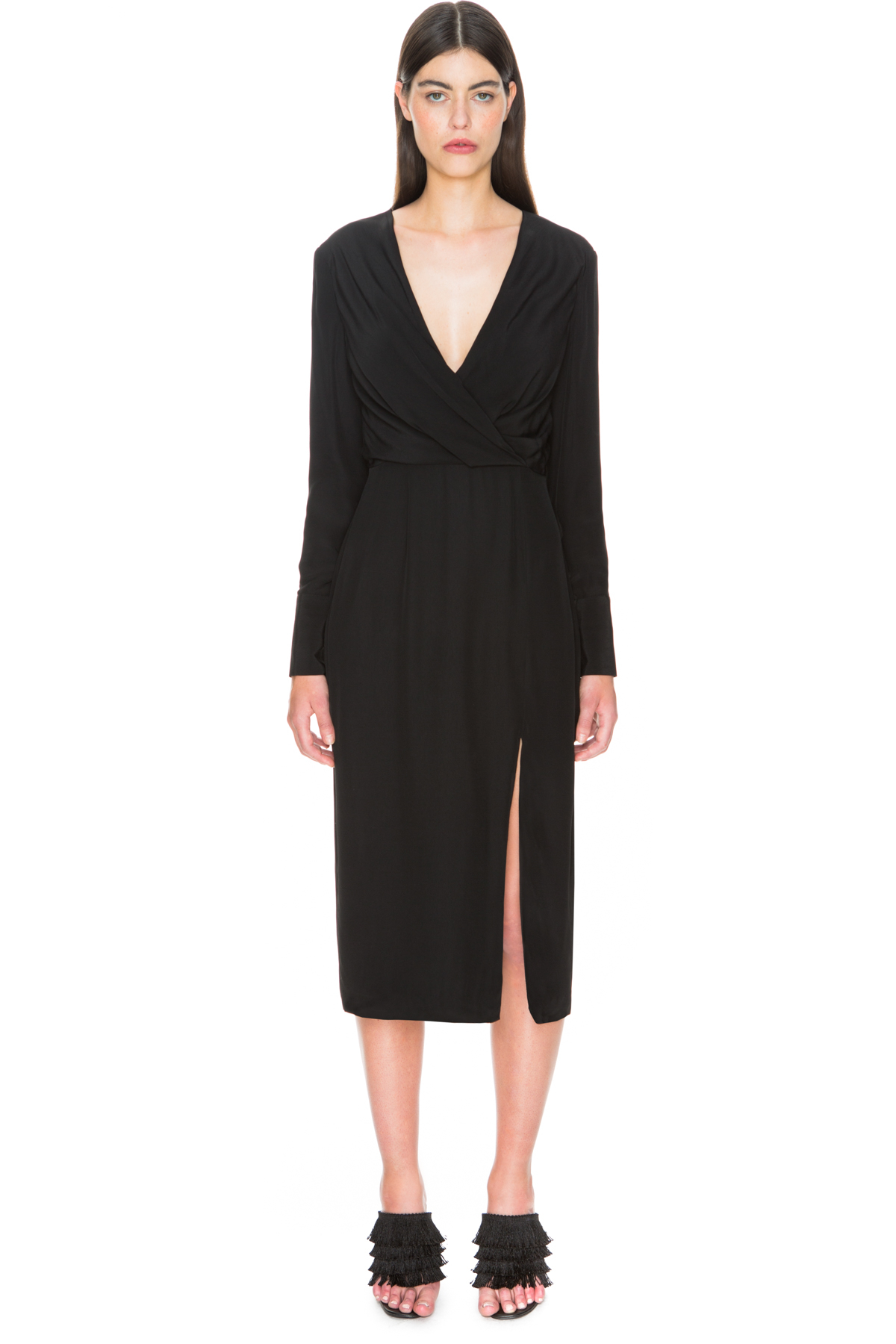 C meo collective bedroom wall long sleeve dress in black for C meo bedroom wall dress