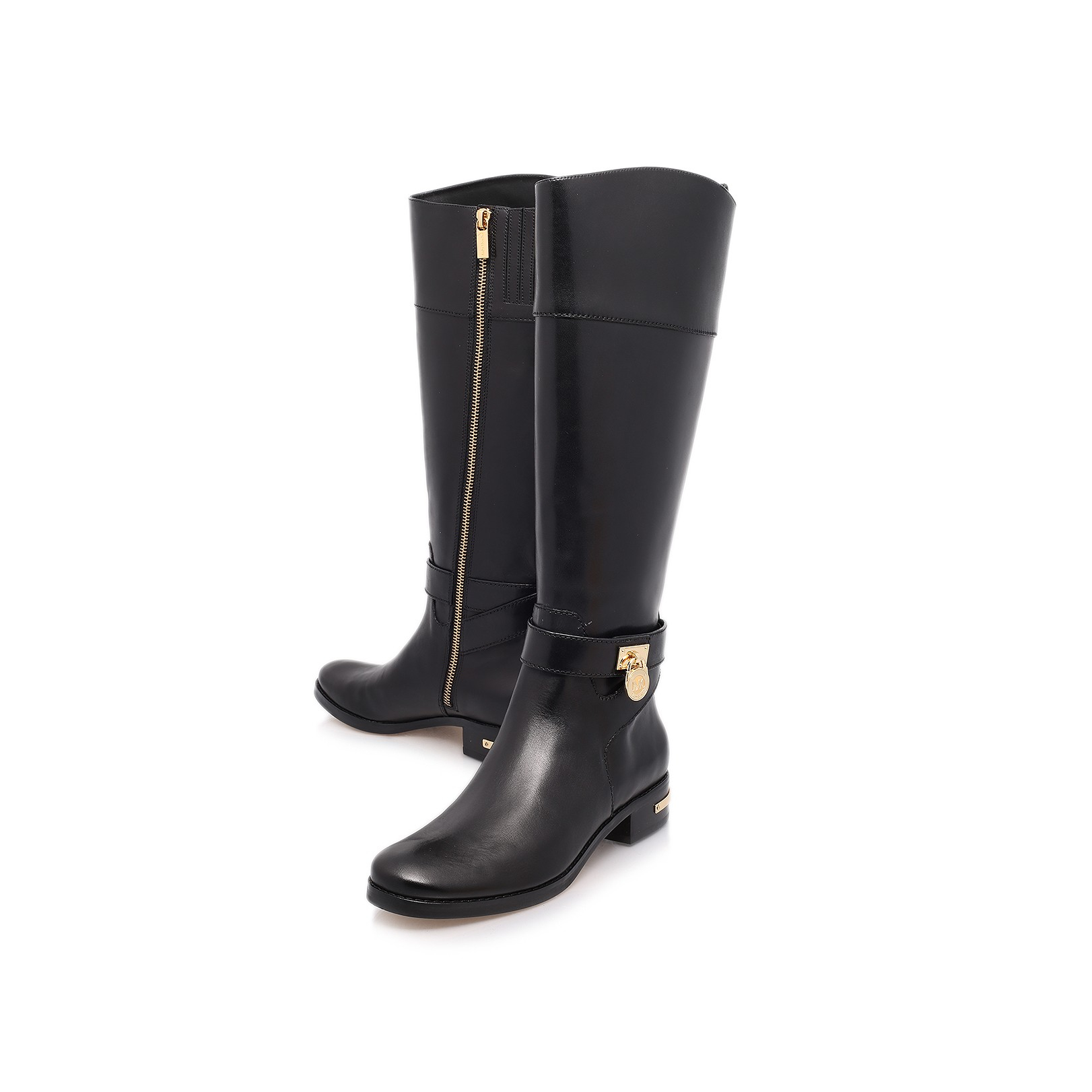 michael michael kors aileen riding boot in black lyst. Black Bedroom Furniture Sets. Home Design Ideas
