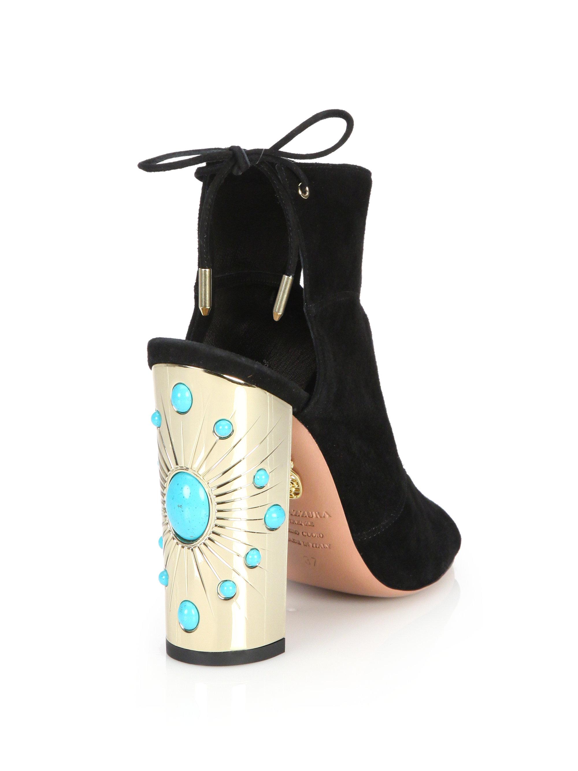 7fbe5194820 Lyst - Aquazzura Pasadena Sandals in Black