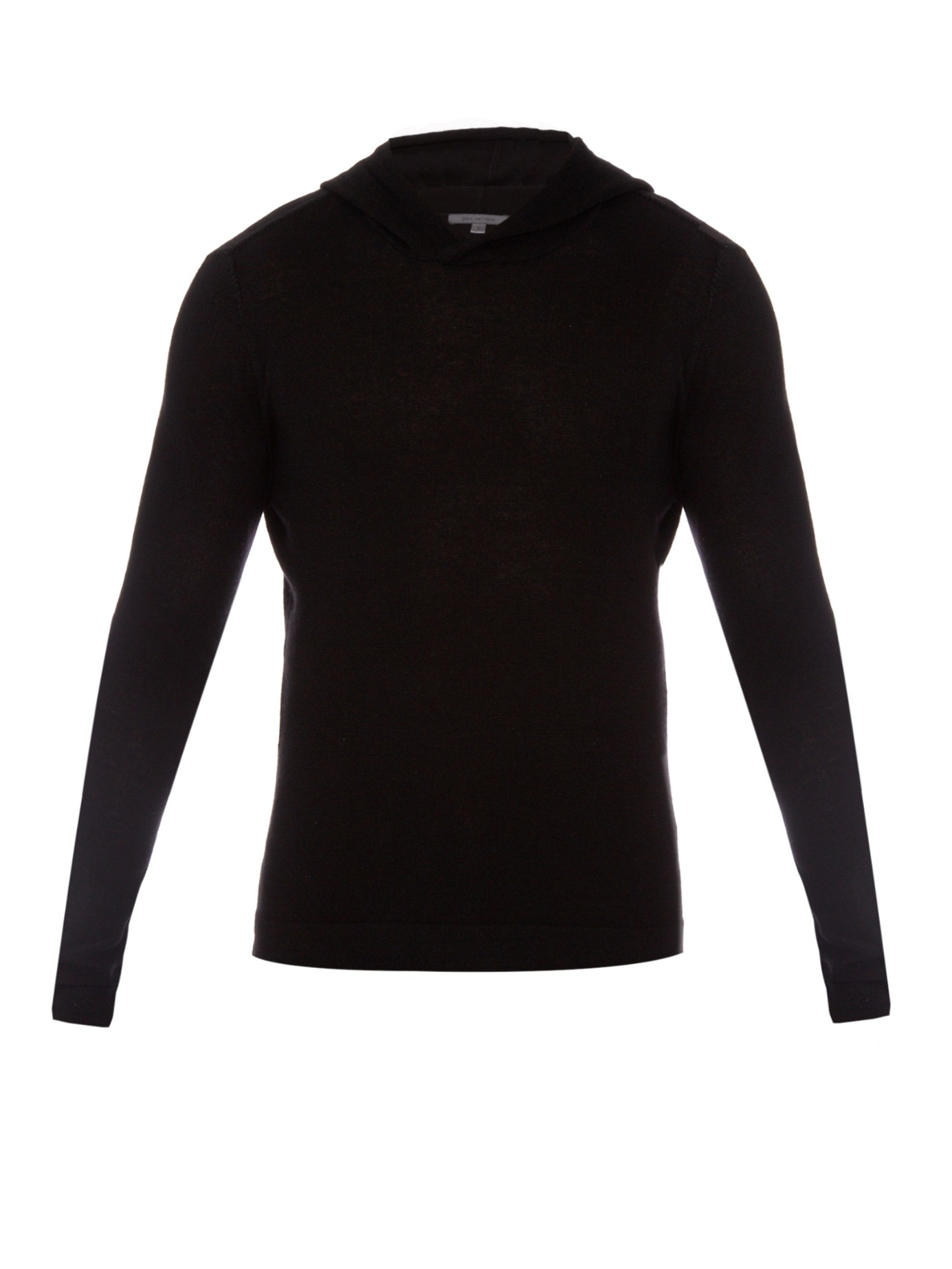 John varvatos Wool And Cashmere-blend Knit Hooded Sweater in Black ...