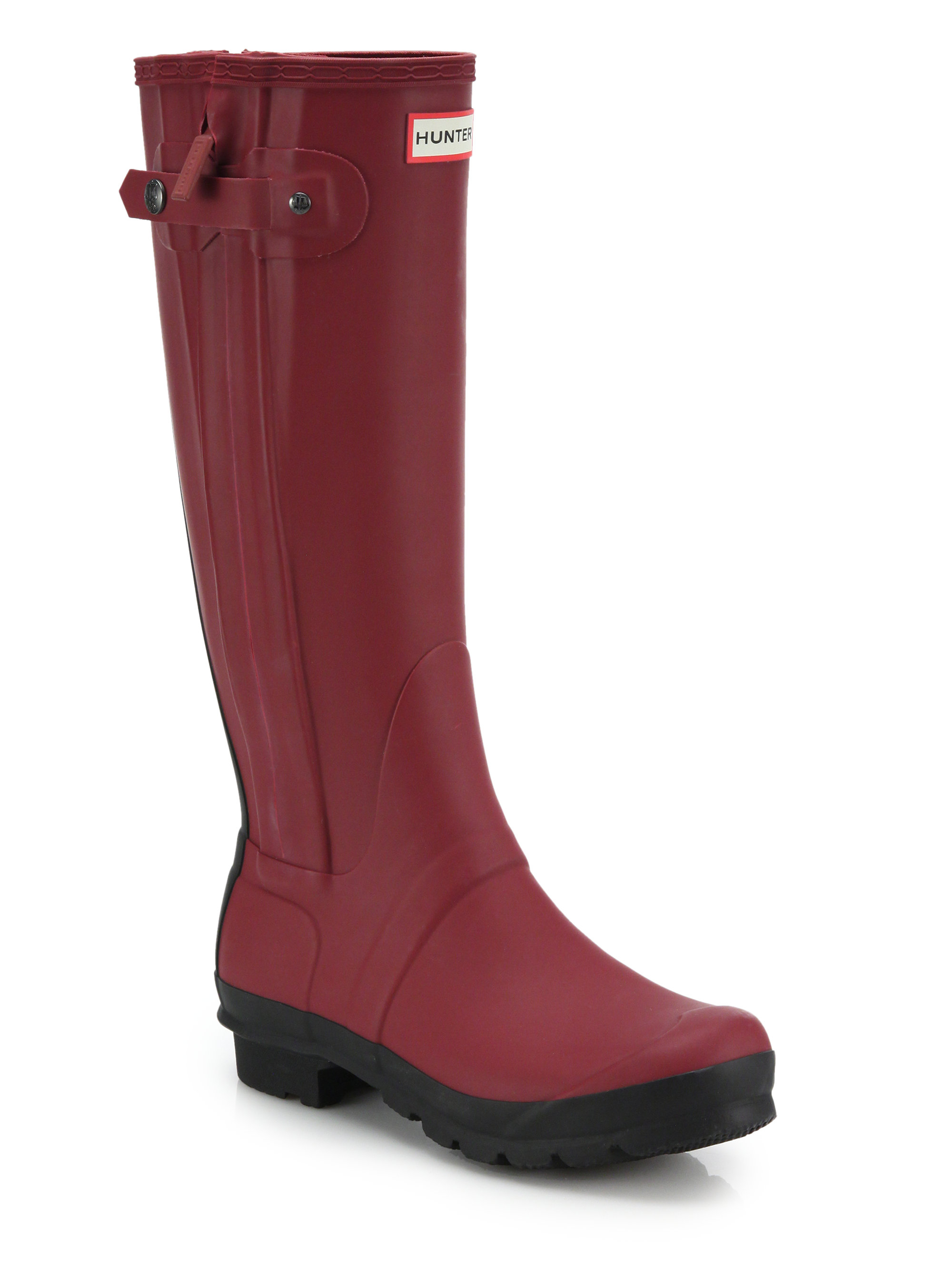 Hunter Original Two Tone Rain Boots In Red Lyst