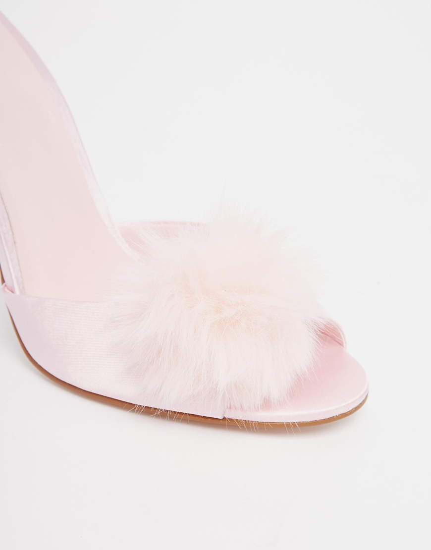 b3242f58277c Lyst - ASOS Nooky Sexy Heeled Slippers in Pink