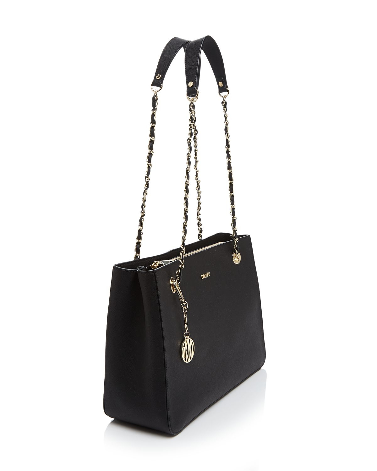 Dkny Tote - Saffiano Chain Handle Shopper in Blue | Lyst