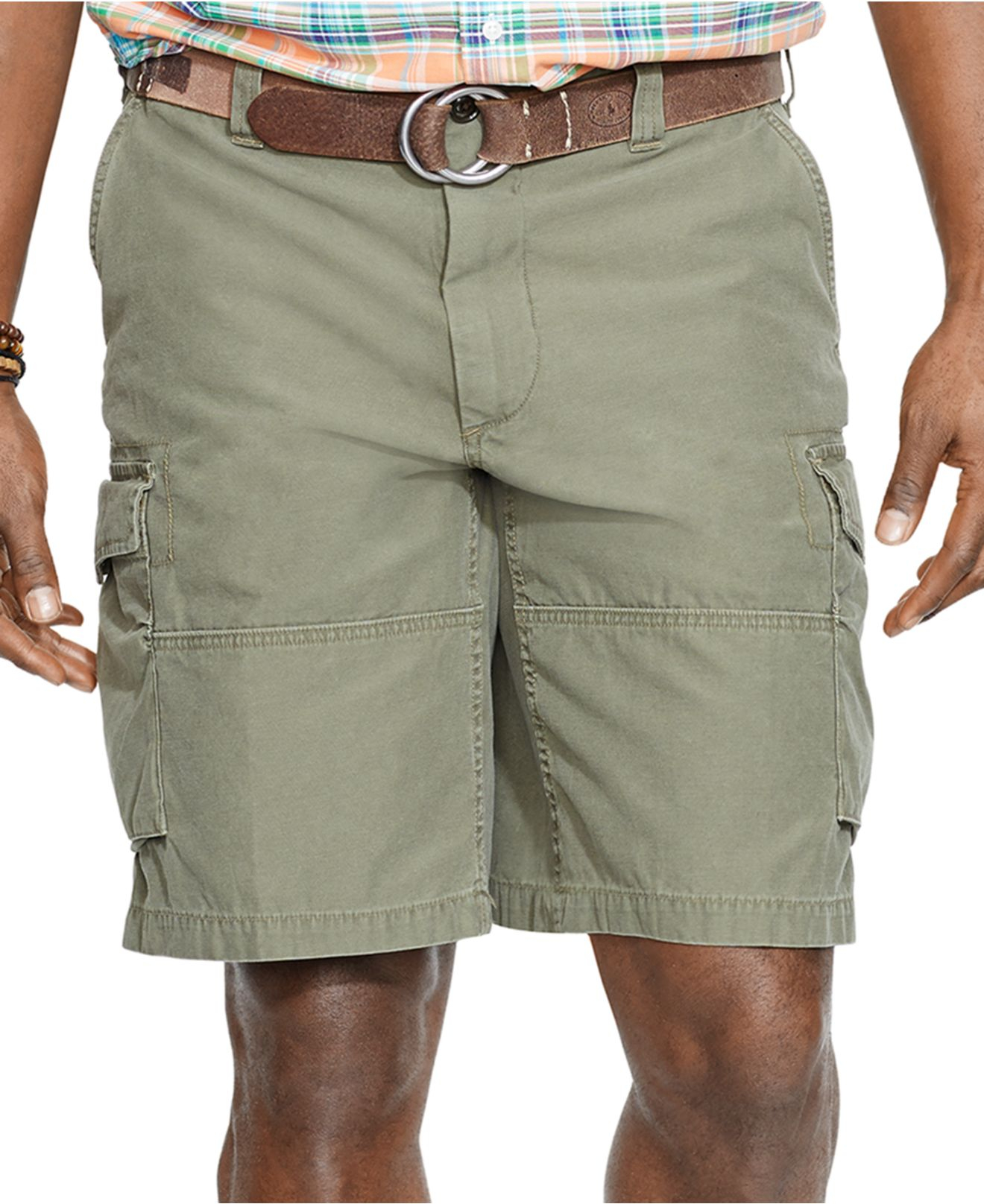 Big and tall cargo shorts: Target.