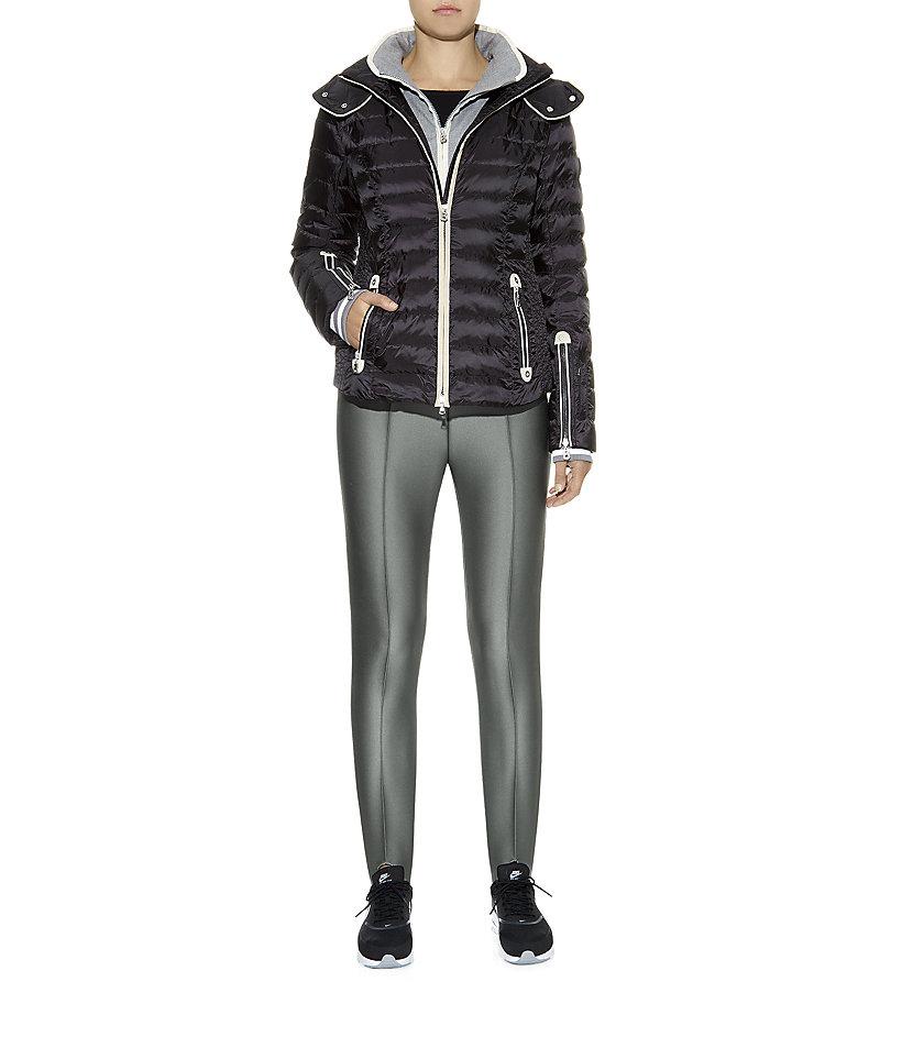 Bogner Elaine Fleece-Lined Stirrup Pants in Gray