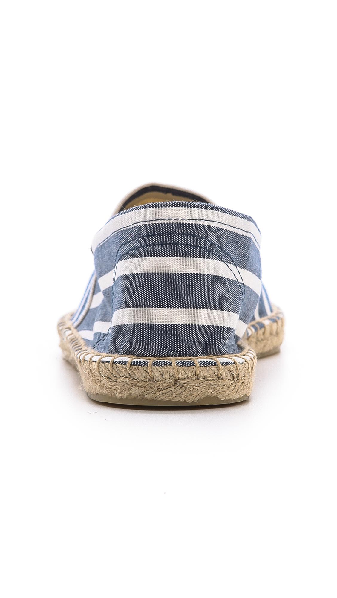 Soludos Original Classic Stripe Espadrilles in Light Navy/White (Blue) for Men