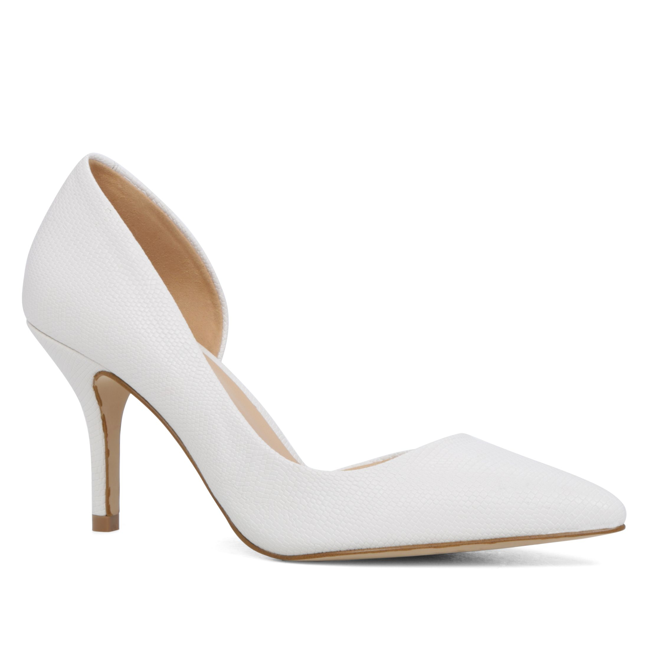 aldo aceidia u pointed toe court shoe in white lyst