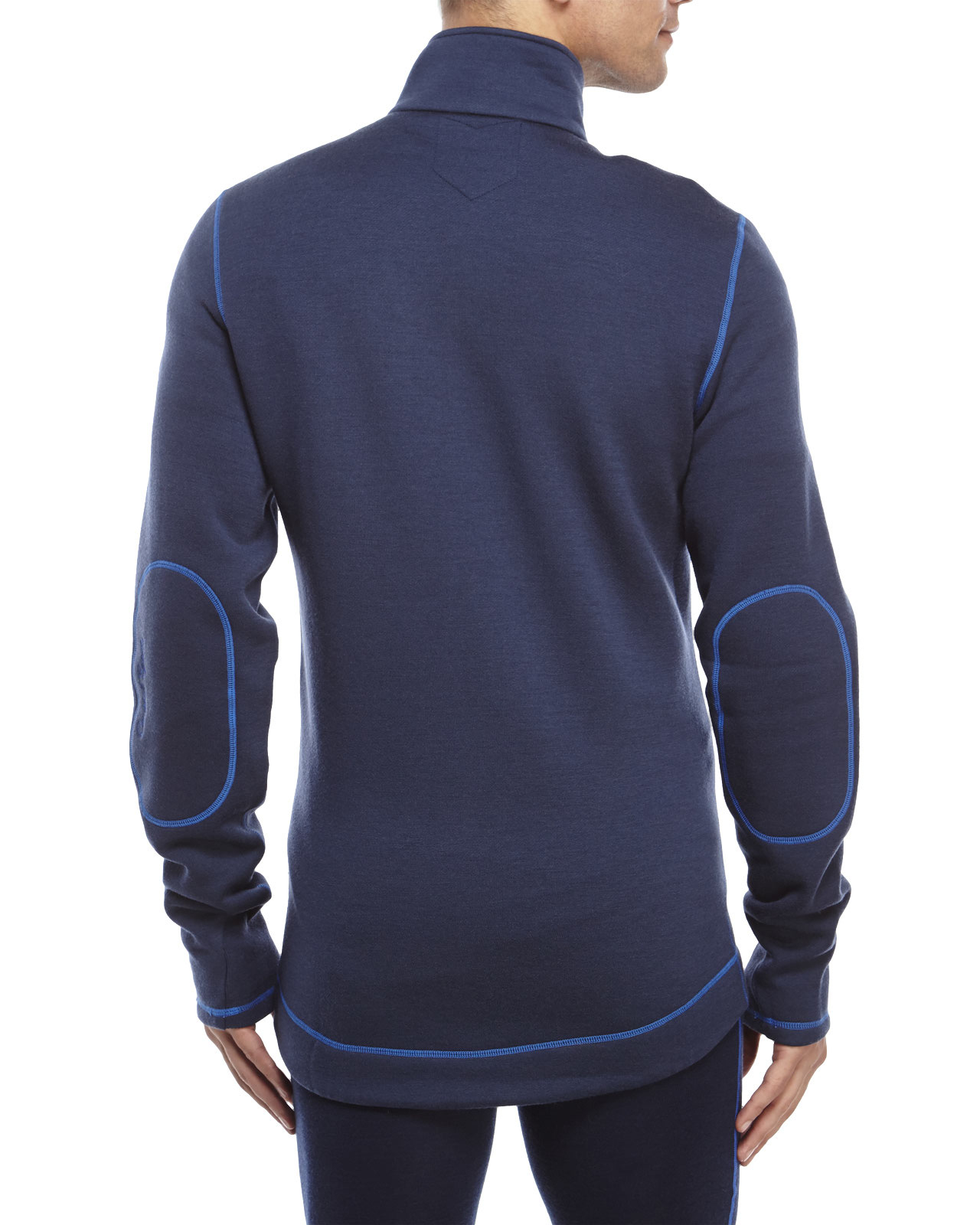 Moods of norway Potter Wool Fleece Jacket in Blue for Men | Lyst