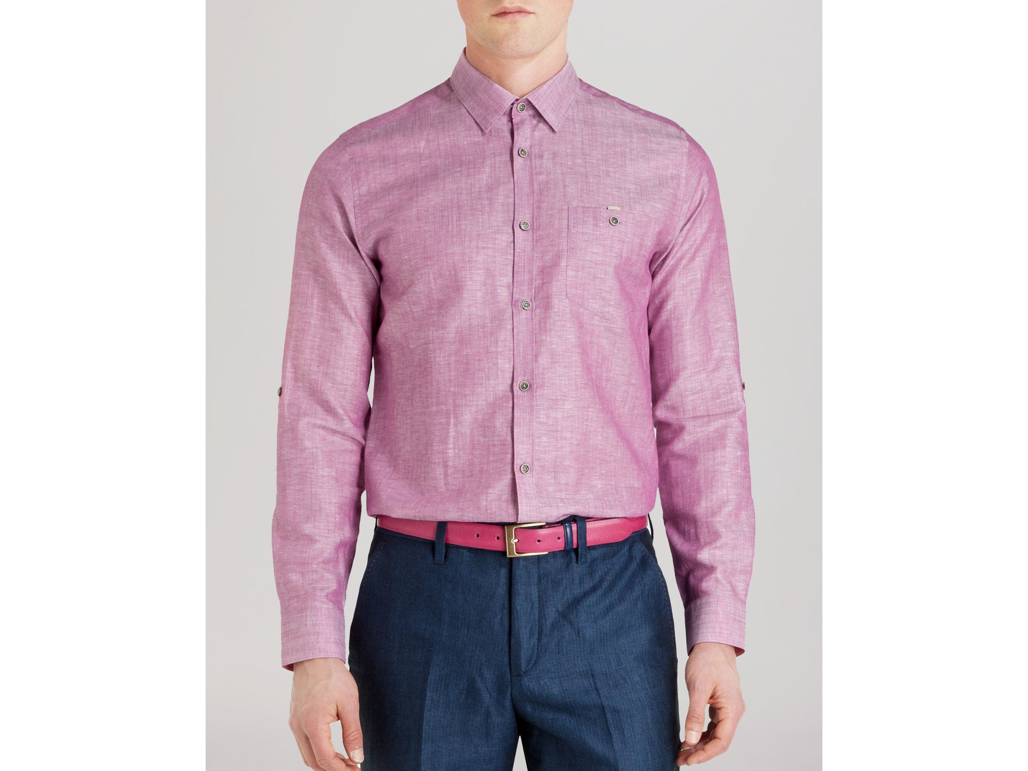 Ted Baker Farewel Solid Classic Button Down Shirt