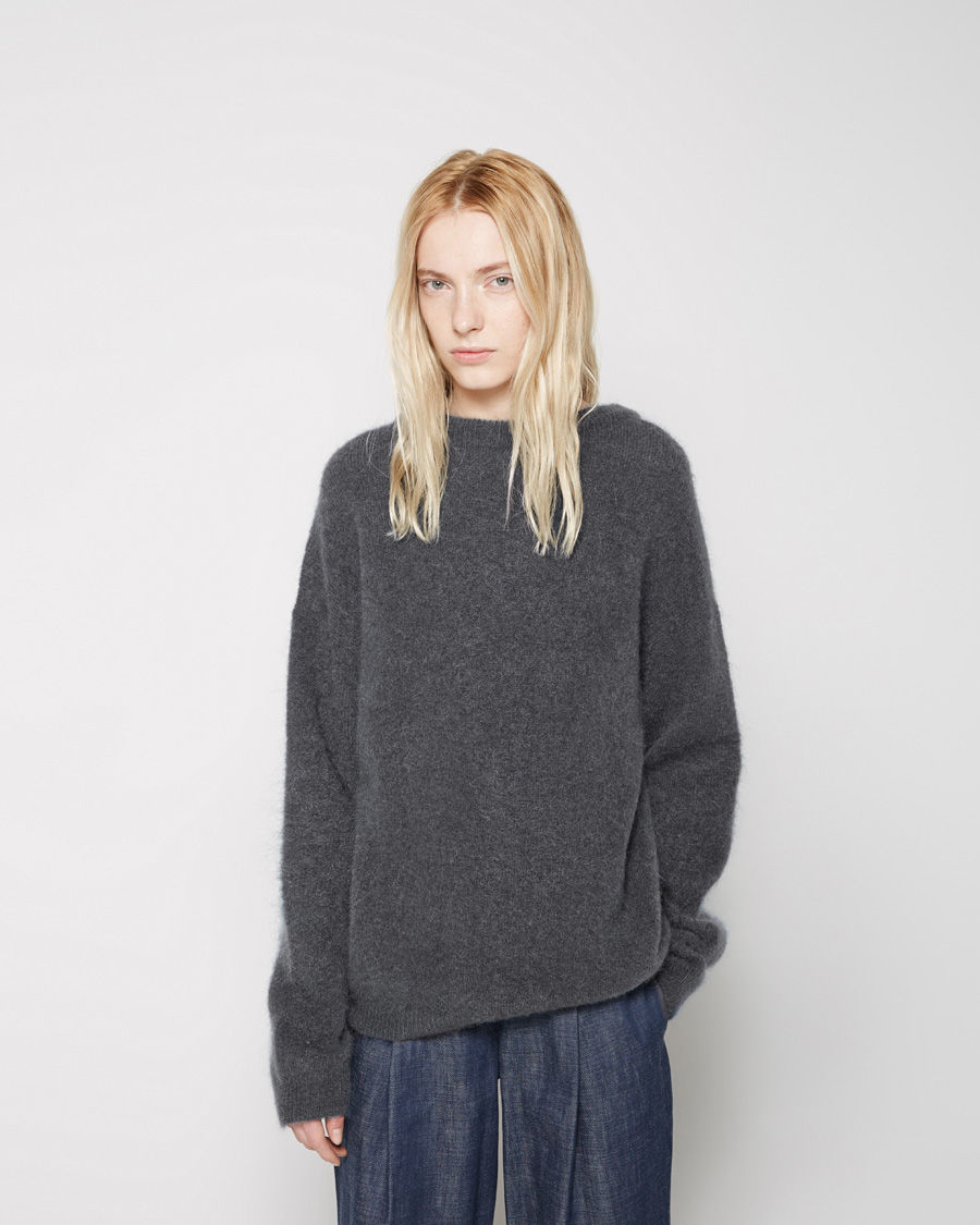 acne studios dramatic mohair sweater in gray lyst. Black Bedroom Furniture Sets. Home Design Ideas