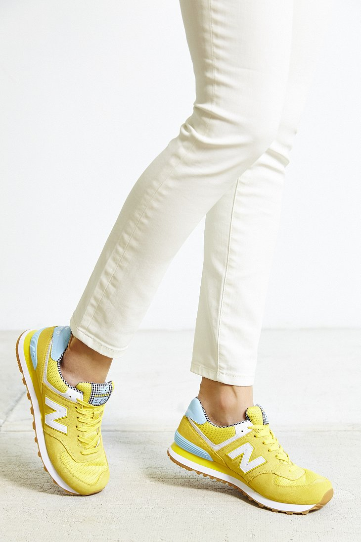 brand new 2aa5e dacc5 Women's Yellow Picnic Running Sneaker