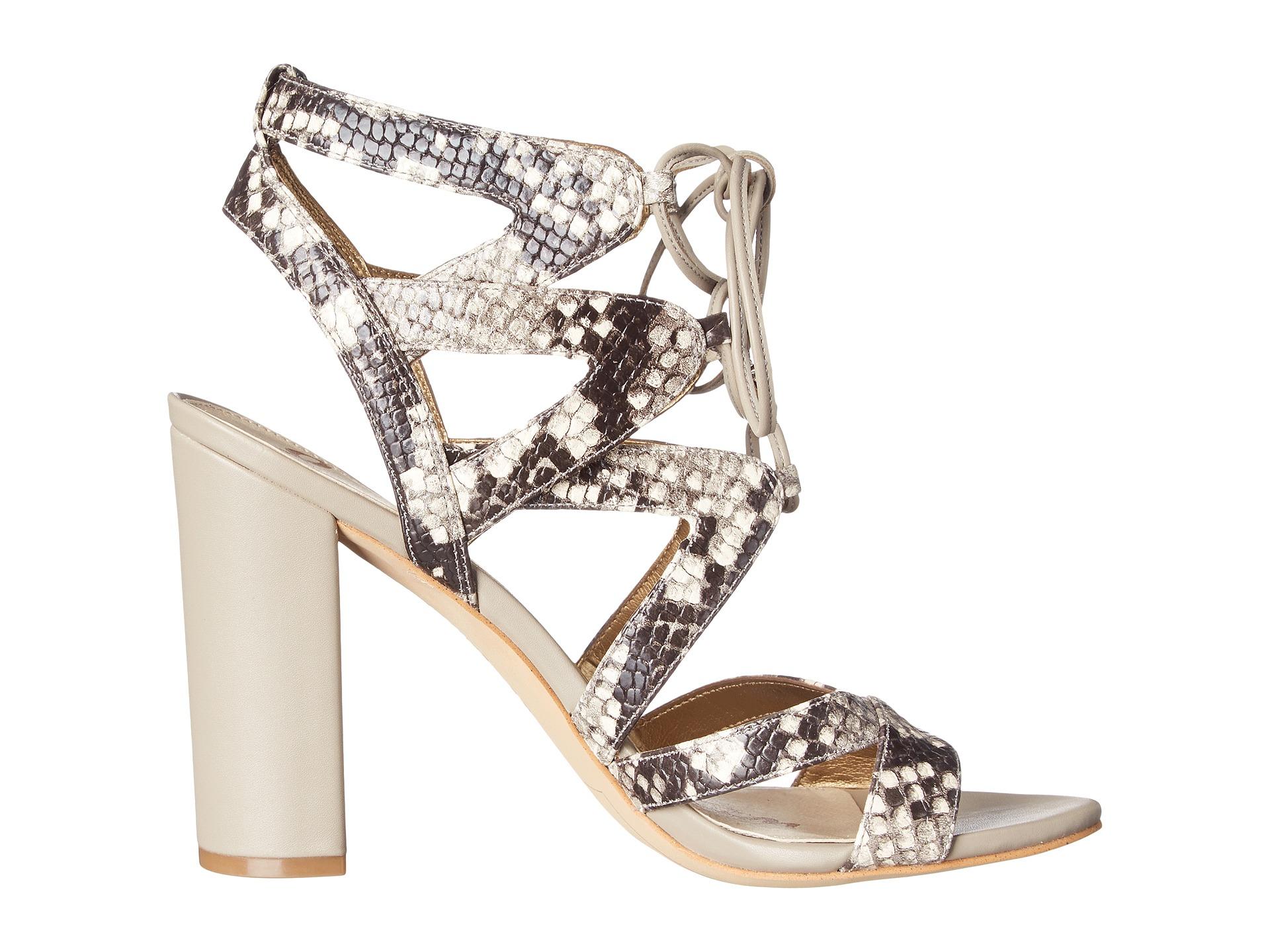 ae7b355f69adc Lyst - Sam Edelman Yardley Snake-Embossed Leather Sandals
