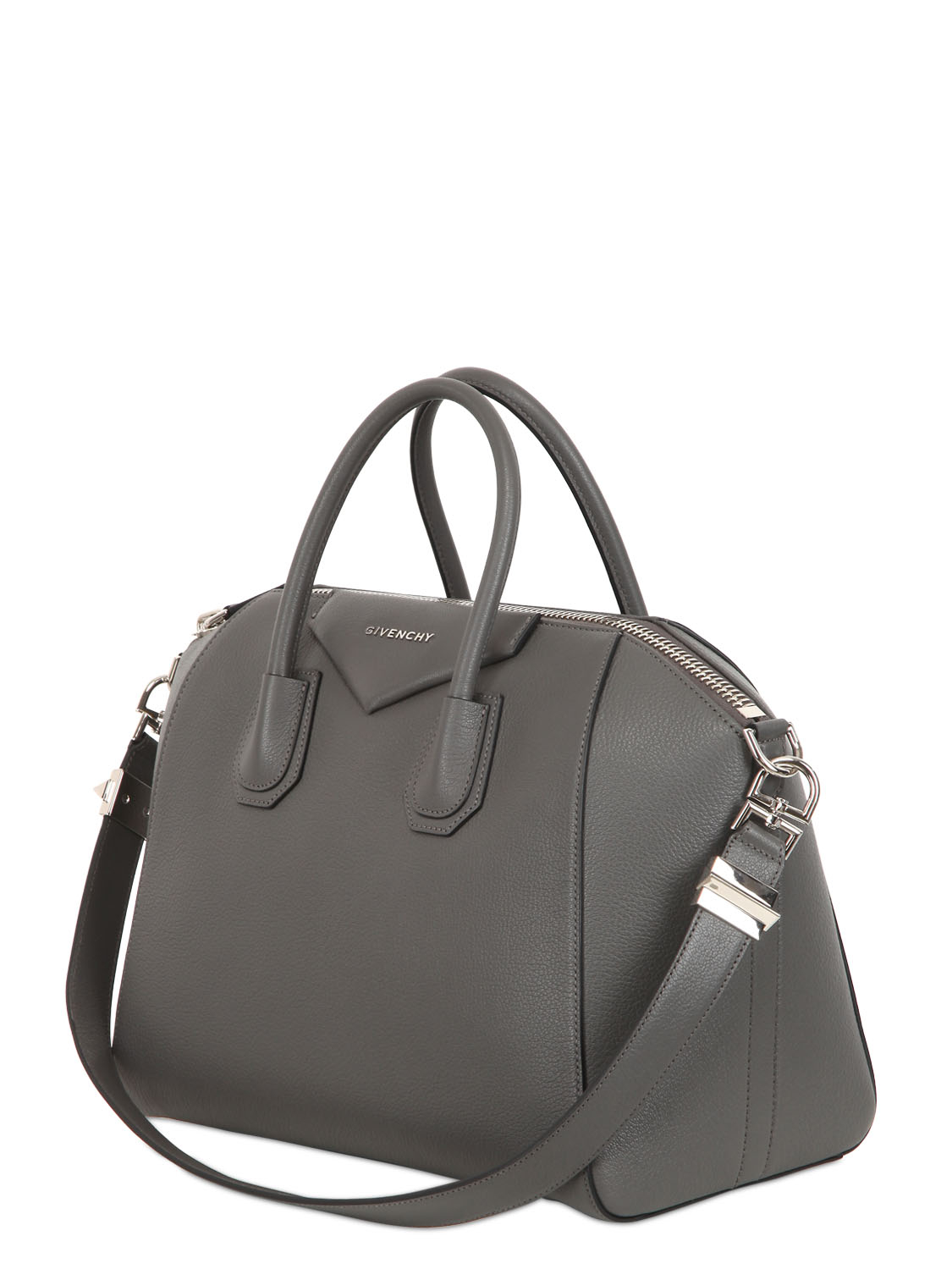 64555d49f7 Lyst - Givenchy Medium Antigona Grained Leather Bag in Gray