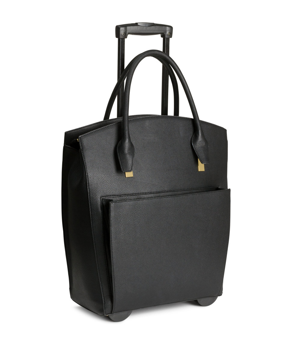 H&m Weekend Bag On Wheels in Black | Lyst