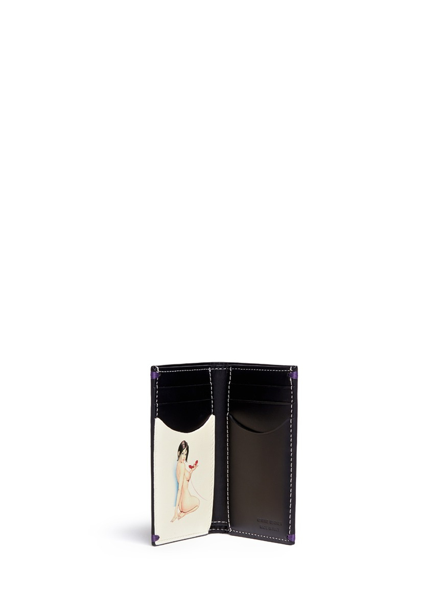 Lyst - Paul Smith Naked Lady Print Leather Card Holder in Black for Men