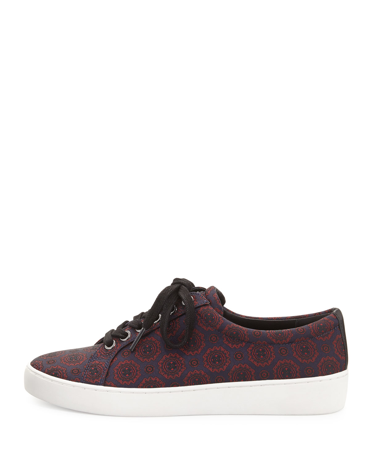 michael kors valin jacquard low top sneaker in blue lyst. Black Bedroom Furniture Sets. Home Design Ideas