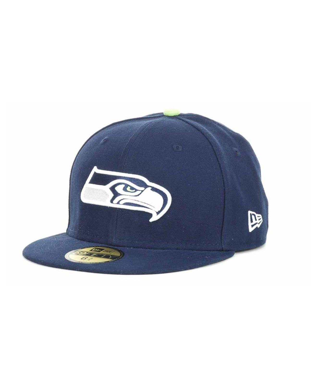 new era seattle seahawks nfl official on field 59fifty cap. Black Bedroom Furniture Sets. Home Design Ideas