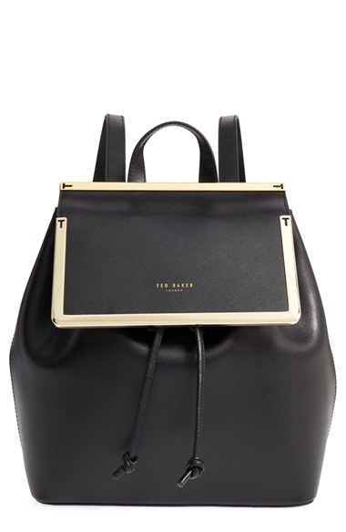 Lyst Ted Baker Metal Trim Backpack In Black