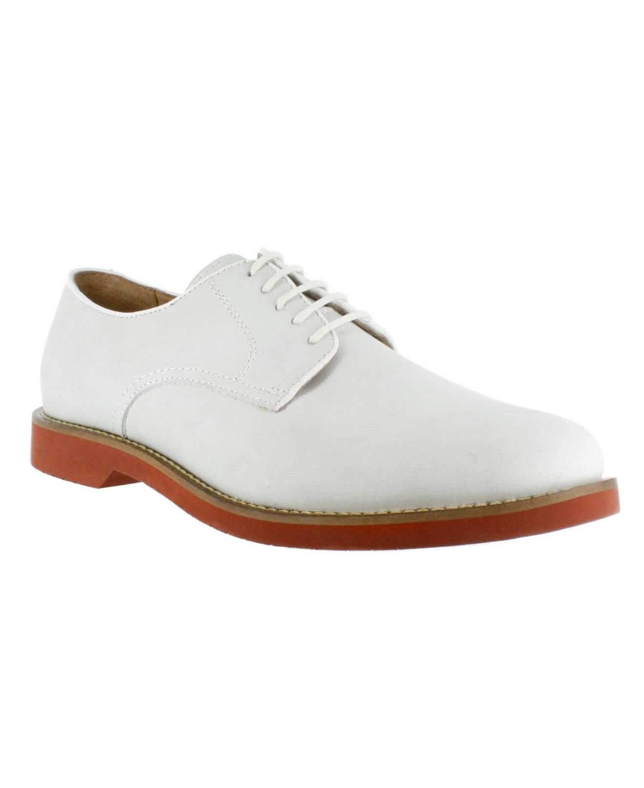 Lyst - G.H.BASS Buckingham Signature Buck Oxfords in White for Men fb0935a684fa