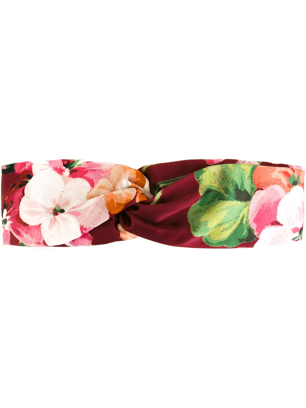 370f9d936cb Gucci Silk Headband With Blooms Print in Pink for Men - Lyst