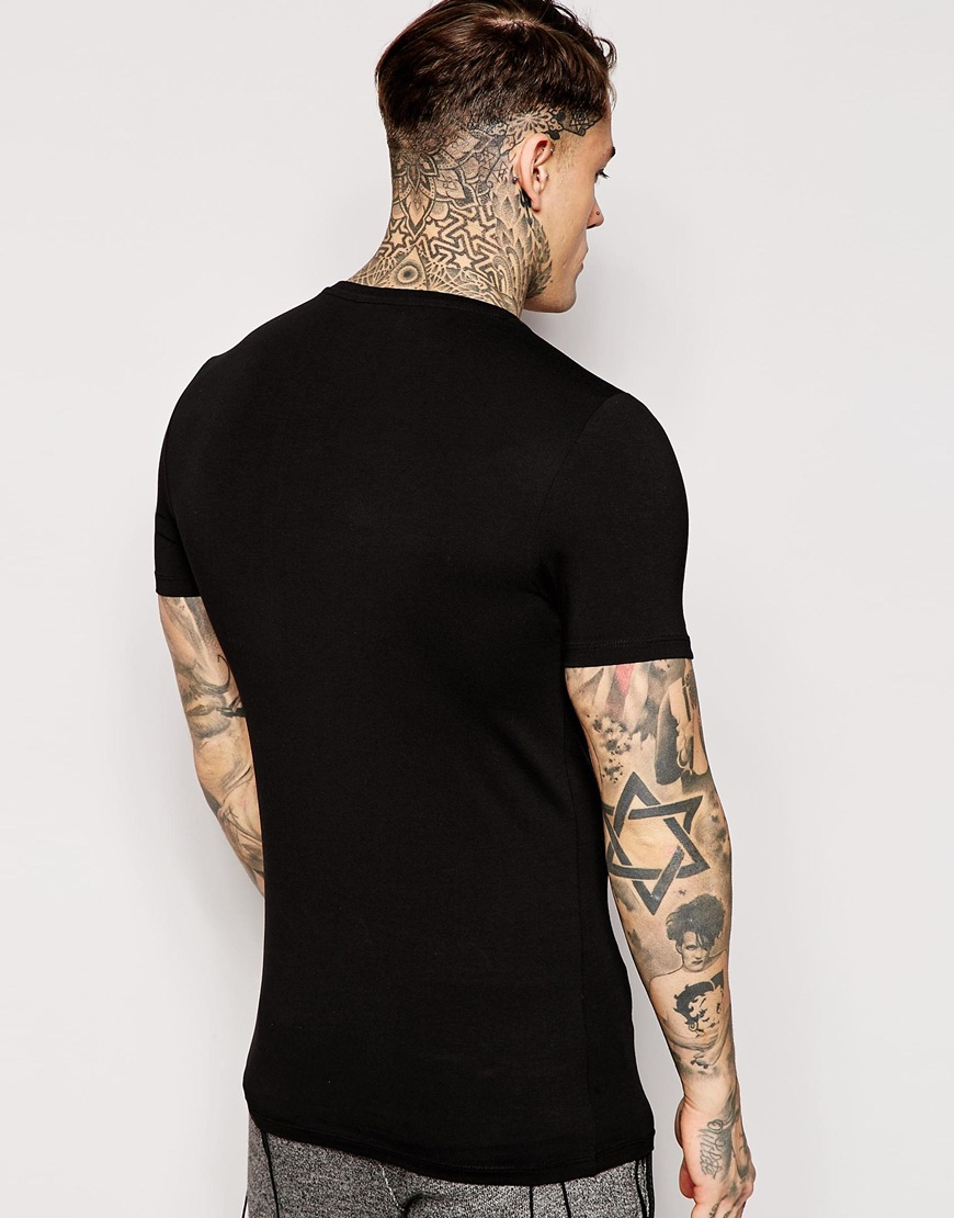 Asos Extreme Muscle Fit T Shirt With V Neck And Stretch In