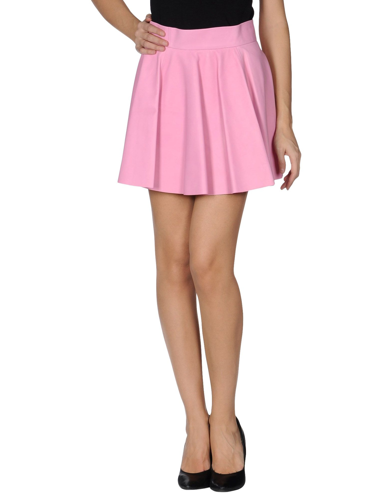 olympia le leather skirt in pink lyst