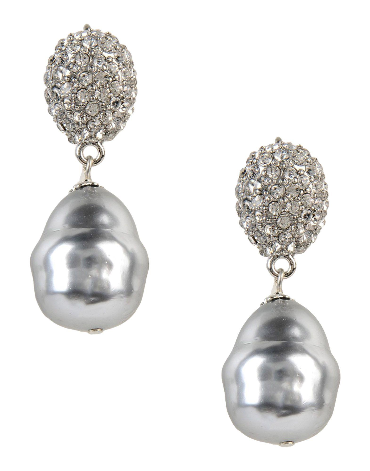 lyst kenneth jay lane earrings in metallic. Black Bedroom Furniture Sets. Home Design Ideas
