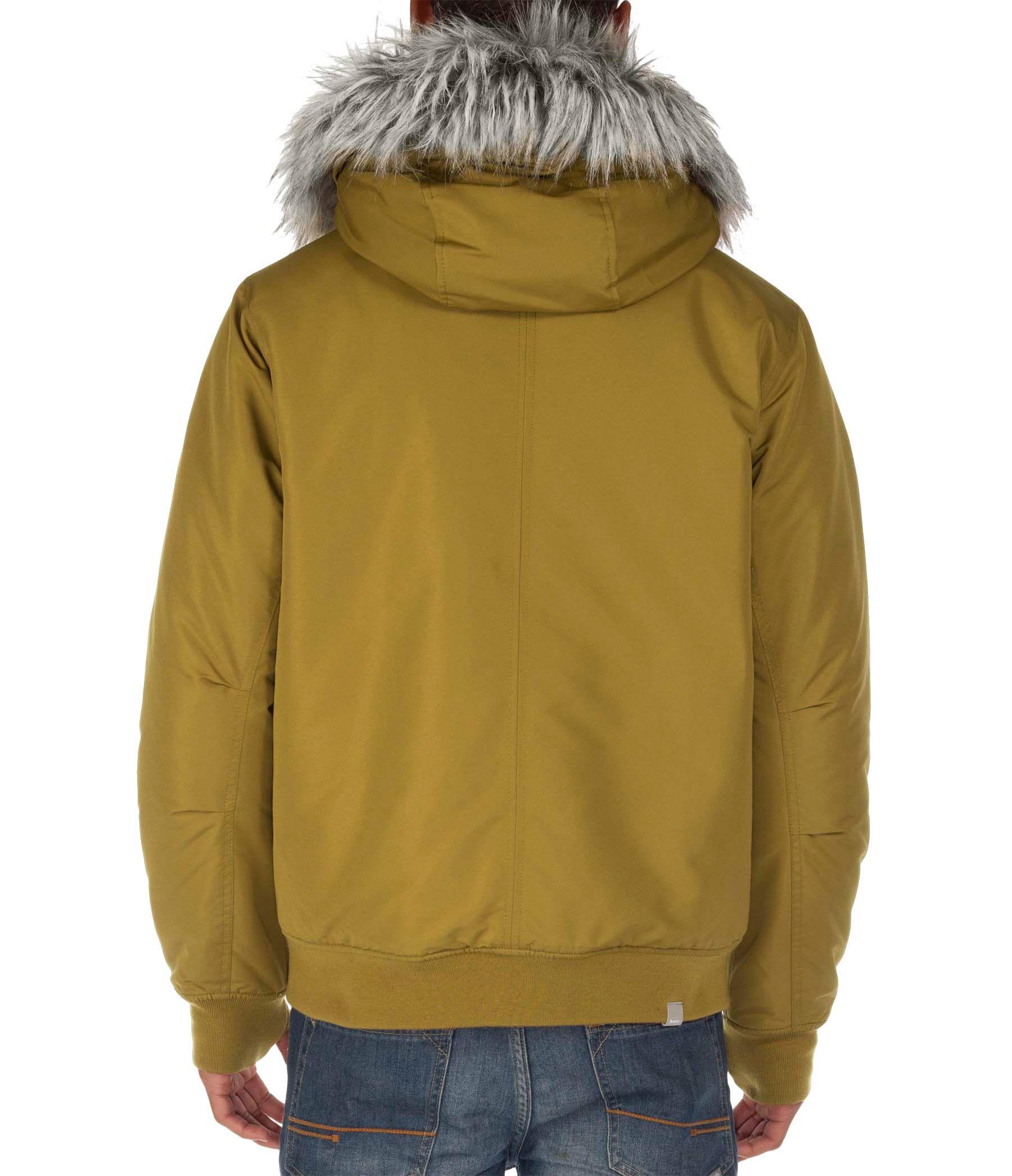 Bench sizzle zip through jacket in metallic for men lyst Bench jacket
