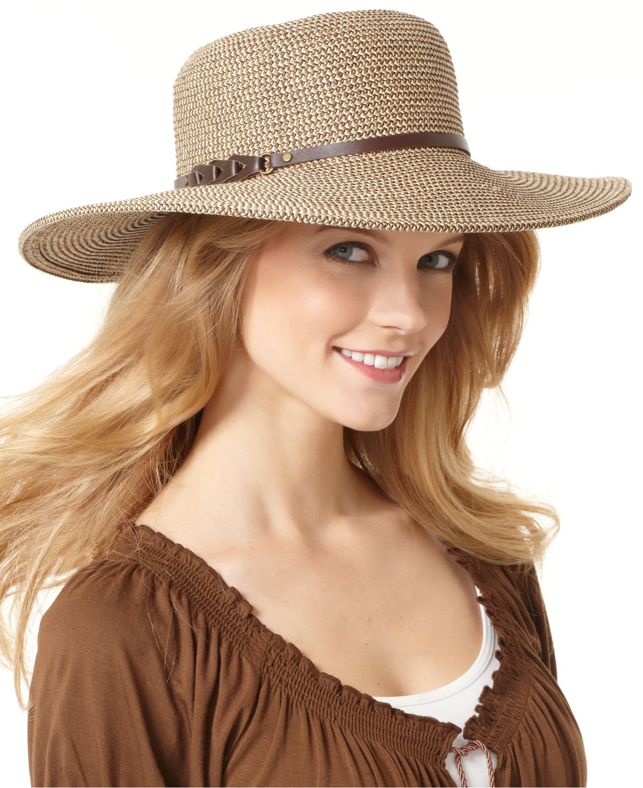 d99460c84433 Nine West Packable Straw Floppy Hat in Natural - Lyst
