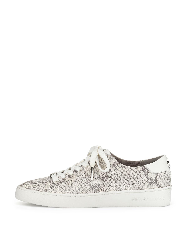 73183f2337a MICHAEL Michael Kors Irving Snake-embossed Low-top Sneaker in ...