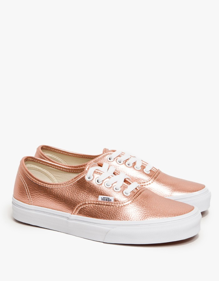 12cf3c08ff7 Lyst - Vans Authentic in Rose Glitter in Pink