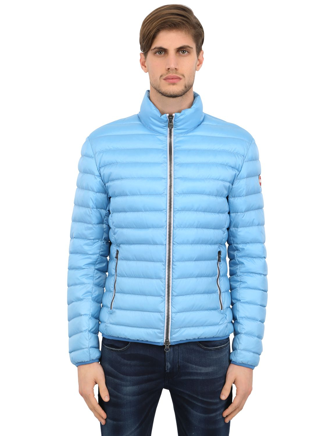 Lyst Colmar Quilted Light Nylon Down Jacket In Blue For Men