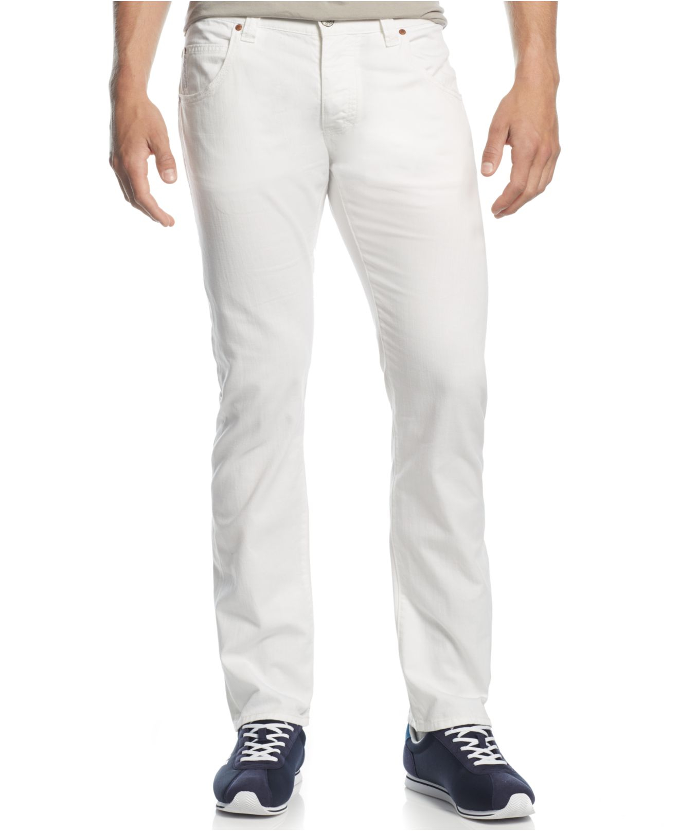 8cab165bb2 Armani Jeans White Slim Straight Jeans for men