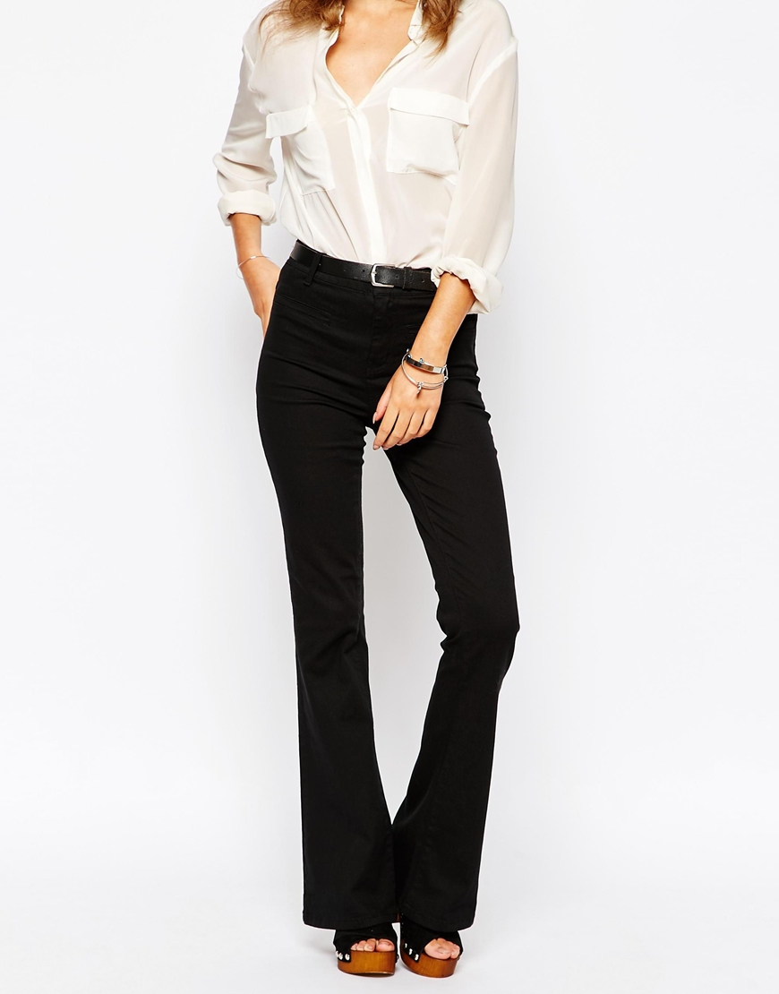 First & i Flared Jeans in Black | Lyst