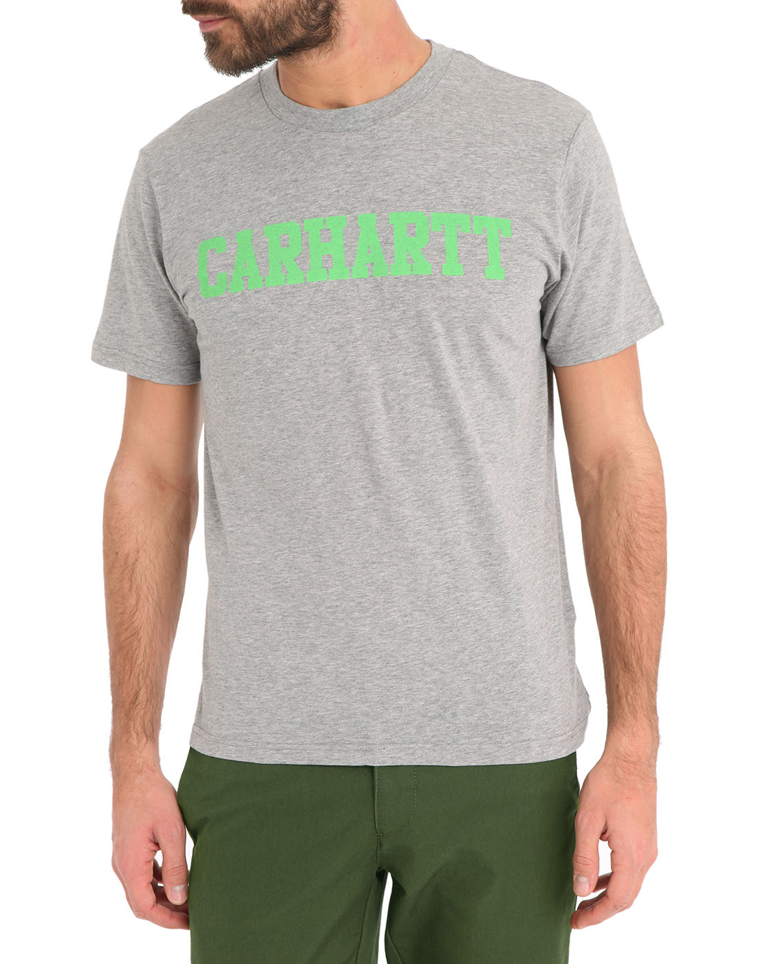 carhartt mottled grey college t shirt in gray for men lyst