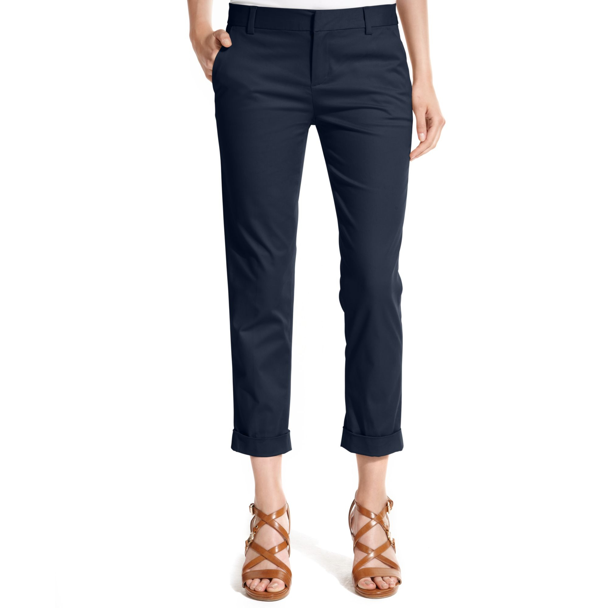 Innovative Tommy Hilfiger Womens Cargo Cropped Capri Pants 12 Jeans 100 Cotton