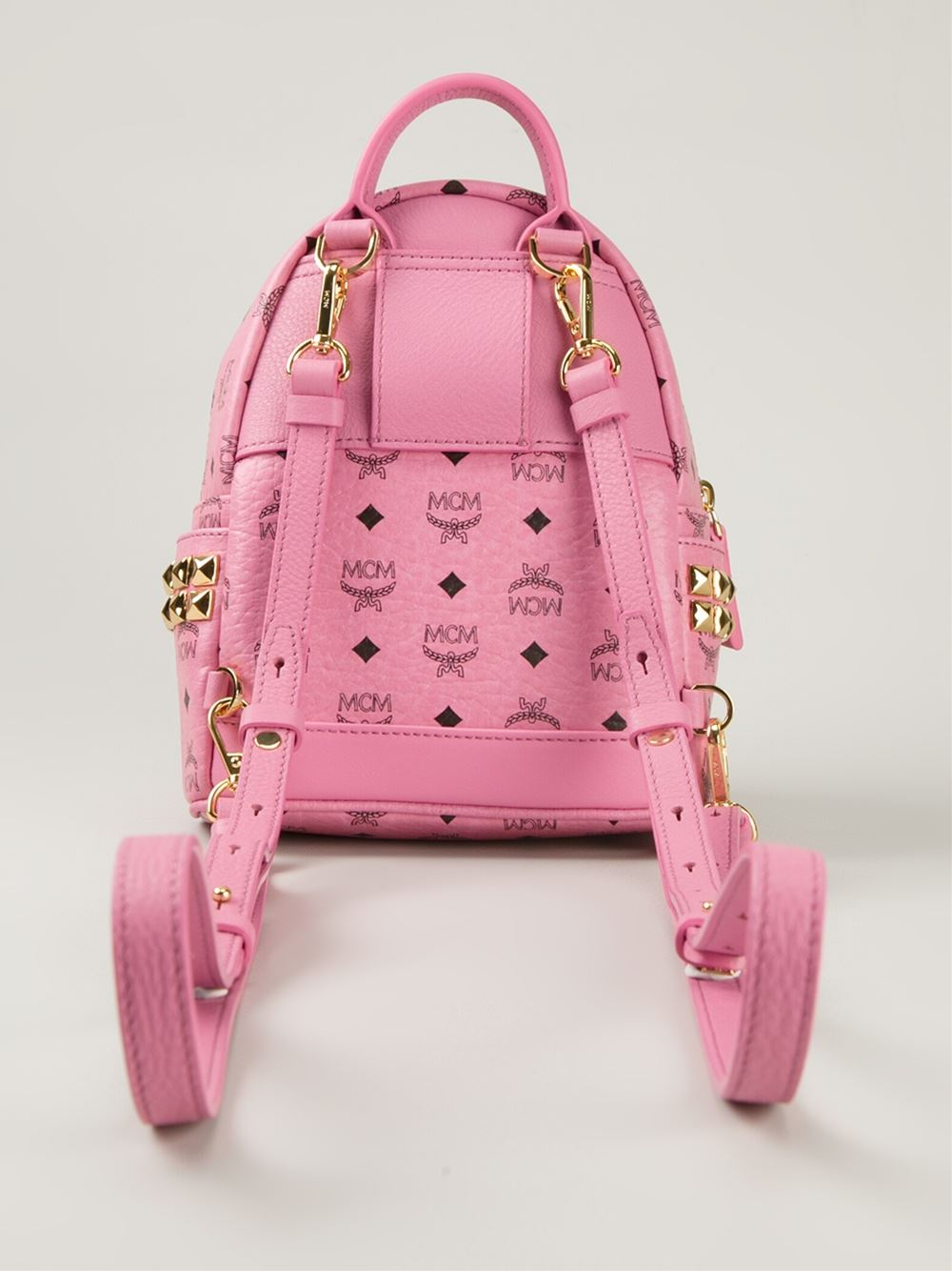 MCM Leather 'Bebe Boo' Backpack in Pink & Purple (Pink)
