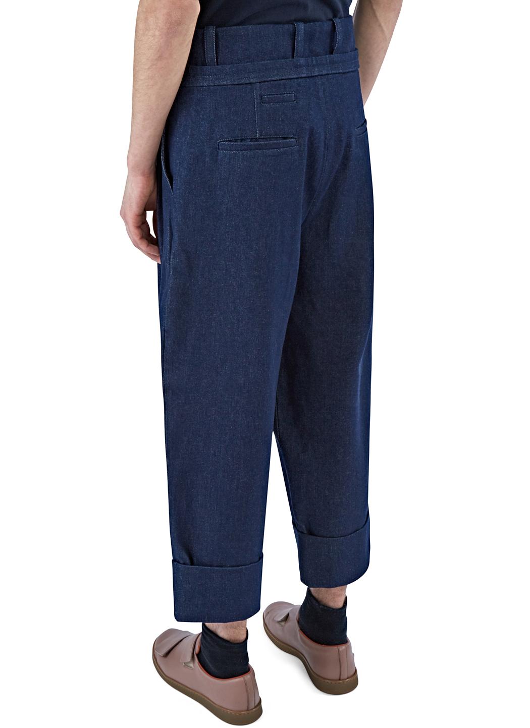 Lyst J W Anderson Men S Oversized Pleated Denim Pants In