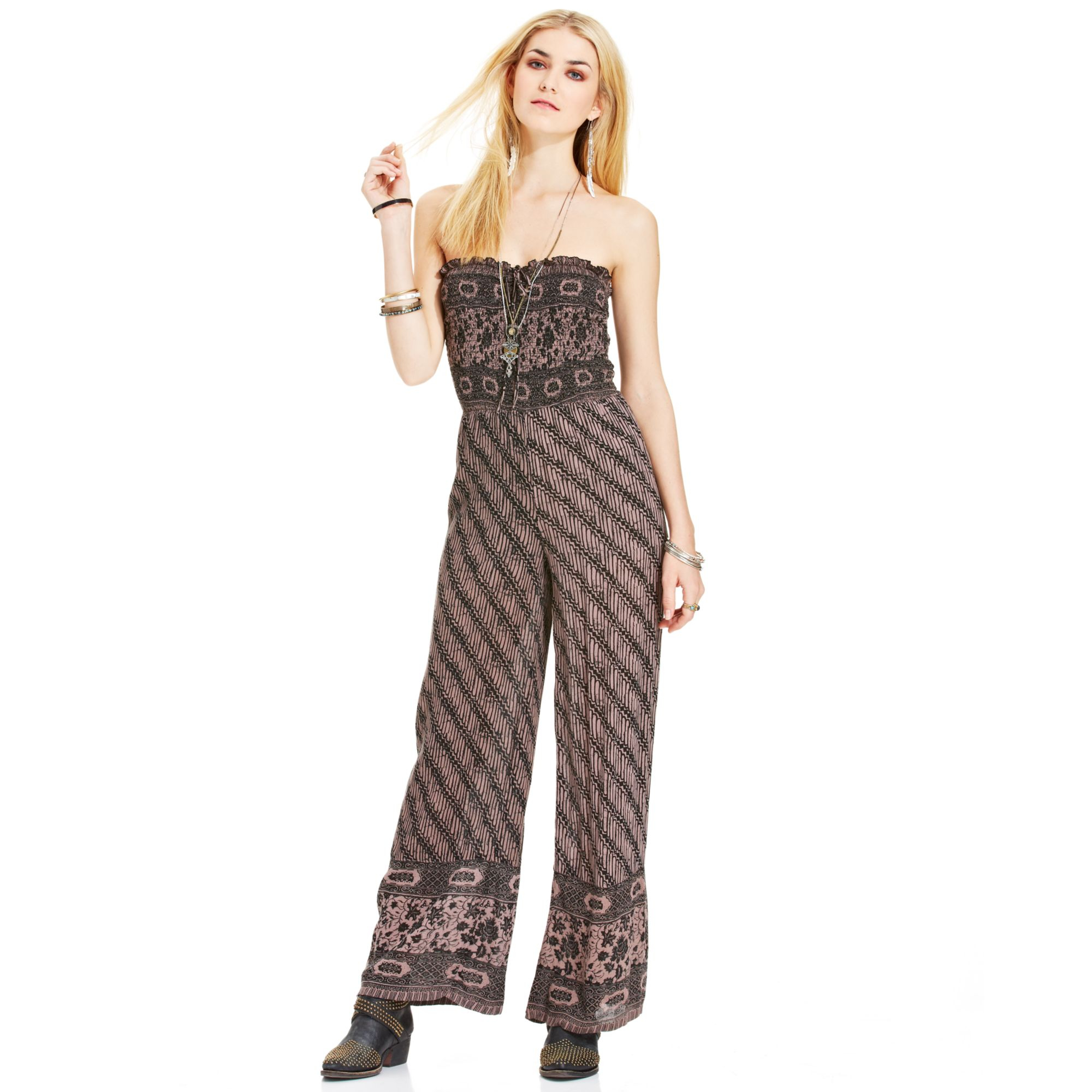 2467d4a3a51 Lyst - Free People Vintage Tube Jumpsuit in Black