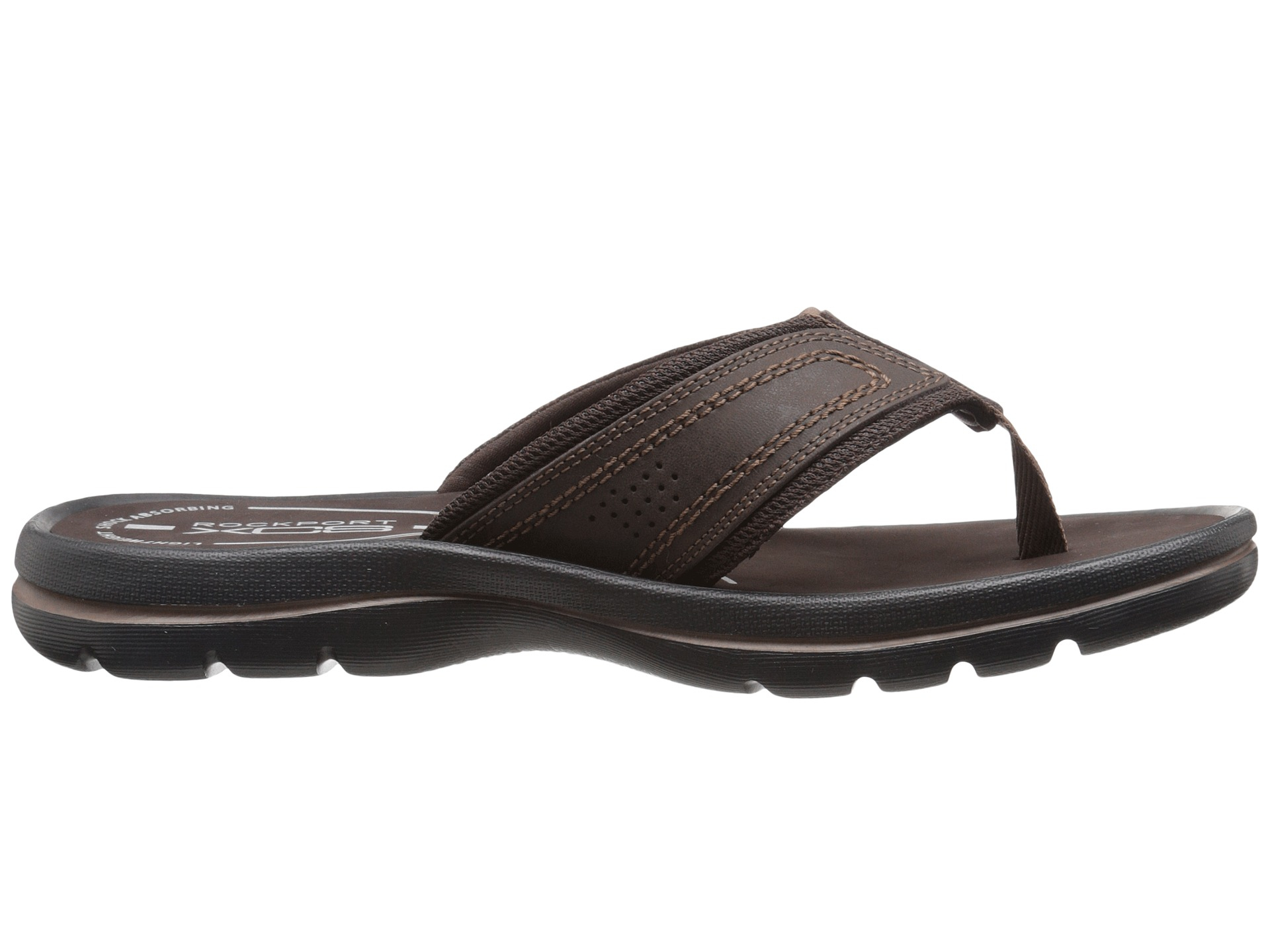 Rockport Get Your Kicks Sandals Thong In Brown For Men Lyst