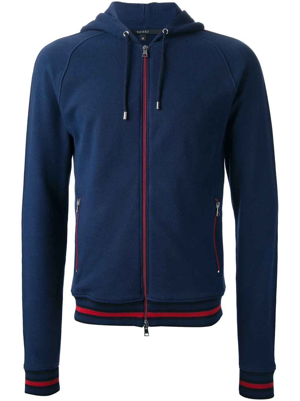 gucci zip hoodie in blue for men lyst. Black Bedroom Furniture Sets. Home Design Ideas