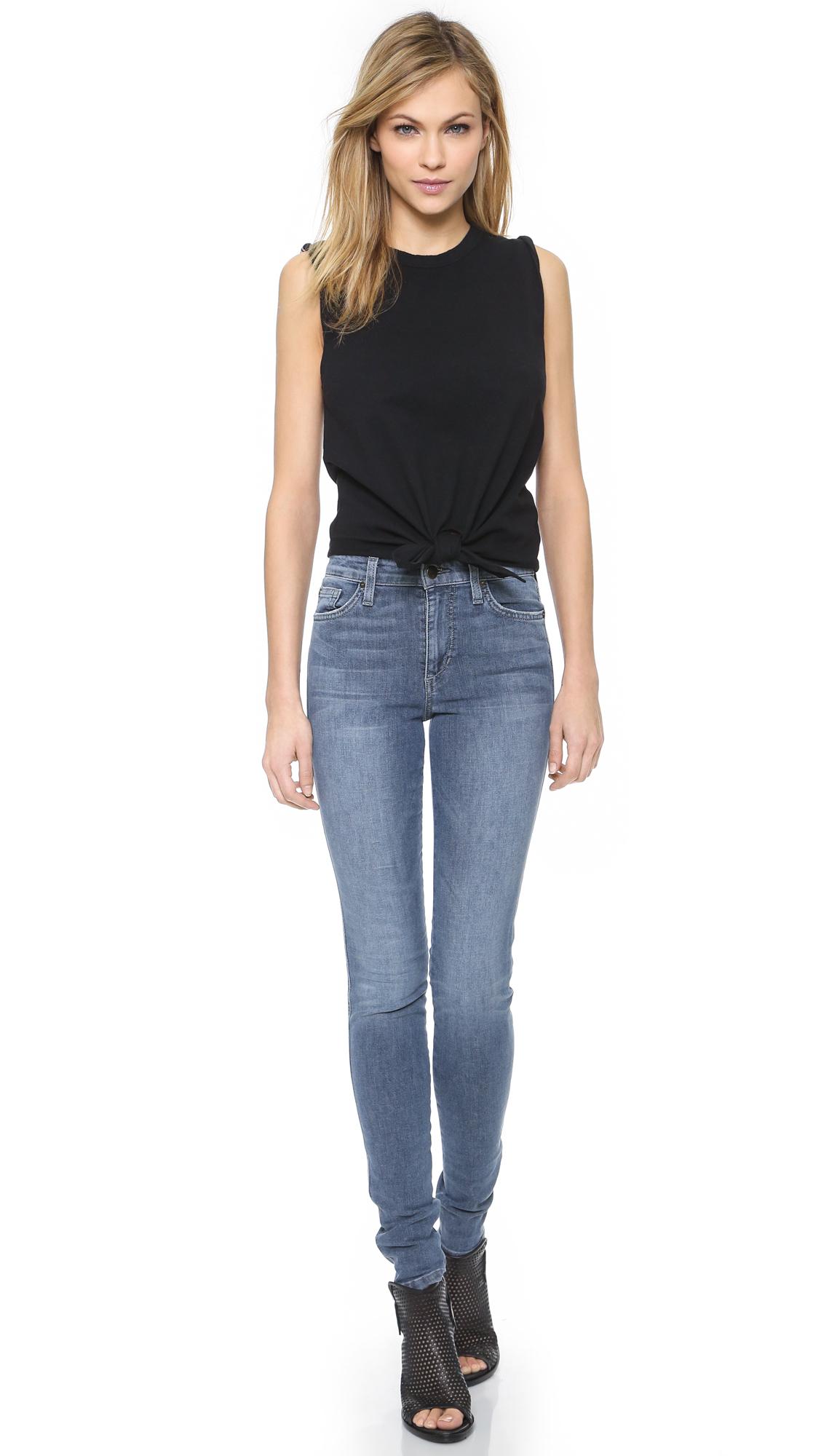 Joeu0026#39;s jeans Knot Tank Top - Black in Black | Lyst