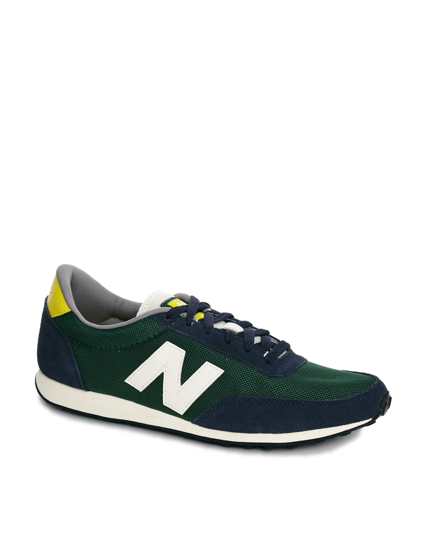 lyst new balance 410 mesh trainers in green for men. Black Bedroom Furniture Sets. Home Design Ideas