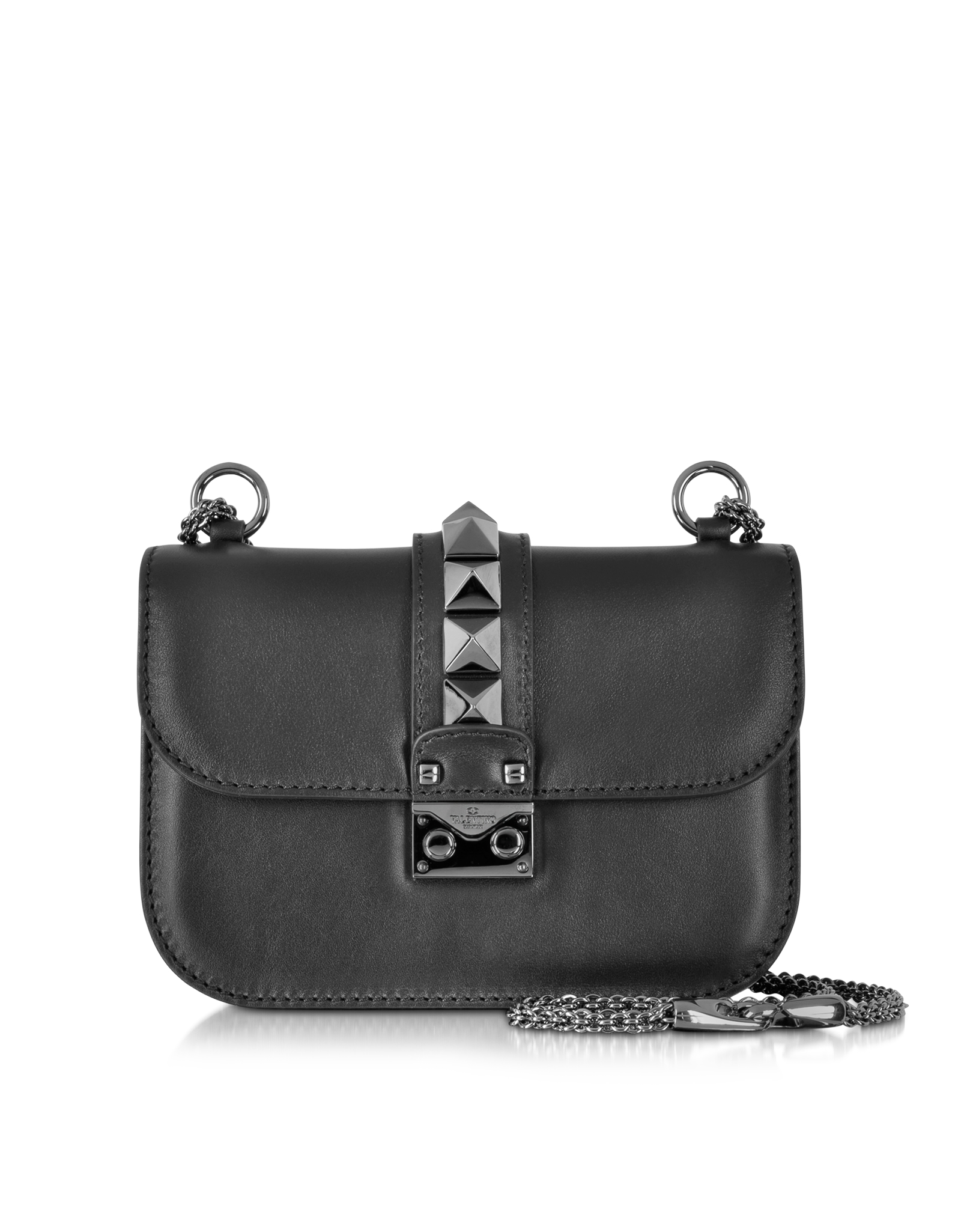 496c2d18a4726 Lyst - Valentino Noir Small Chain Shoulder Bag in Black