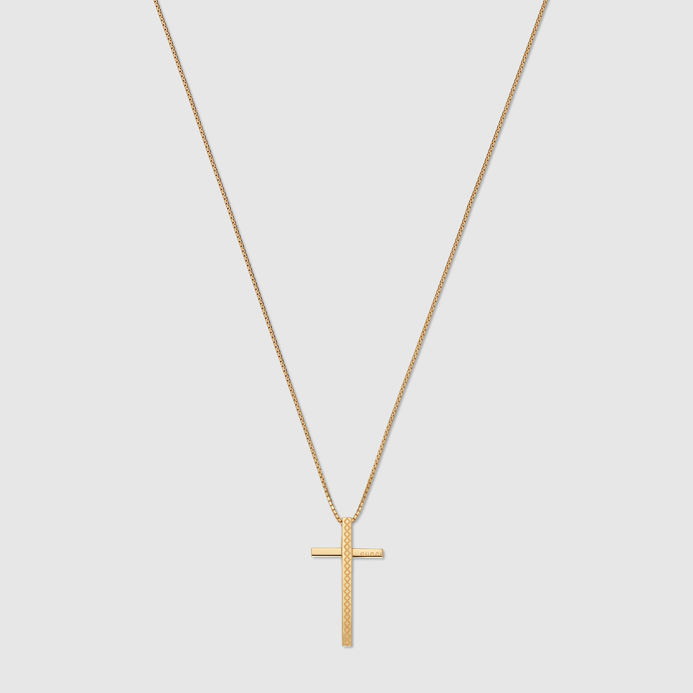 Unique 18k gold cross necklace jewellrys website gucci diamantissima necklace with cross in metallic aloadofball Images