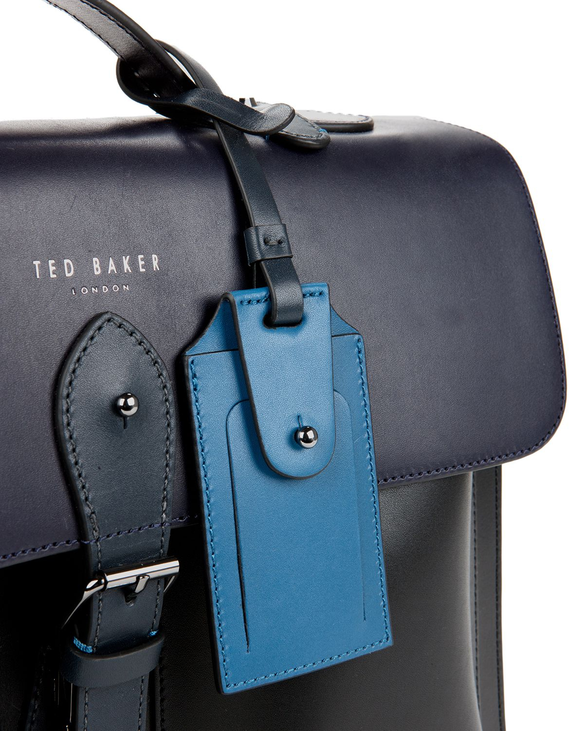 e3d4d099bcee8e Lyst - Ted Baker Harlemm Mixed Leather Satchel in Blue for Men