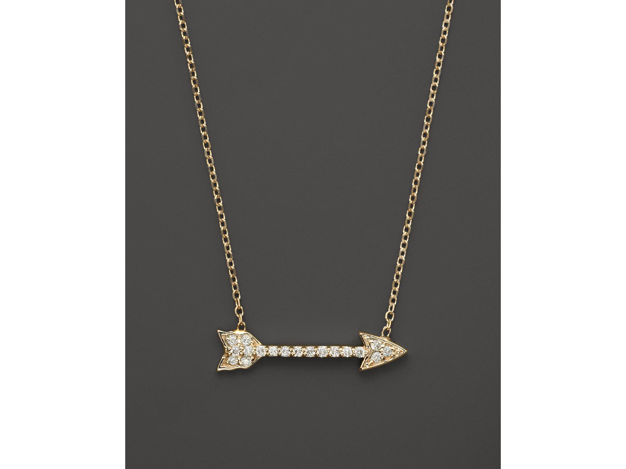 77d5ec23e012 KC Designs Small Diamond Arrow Pendant Necklace In 14k Yellow Gold ...