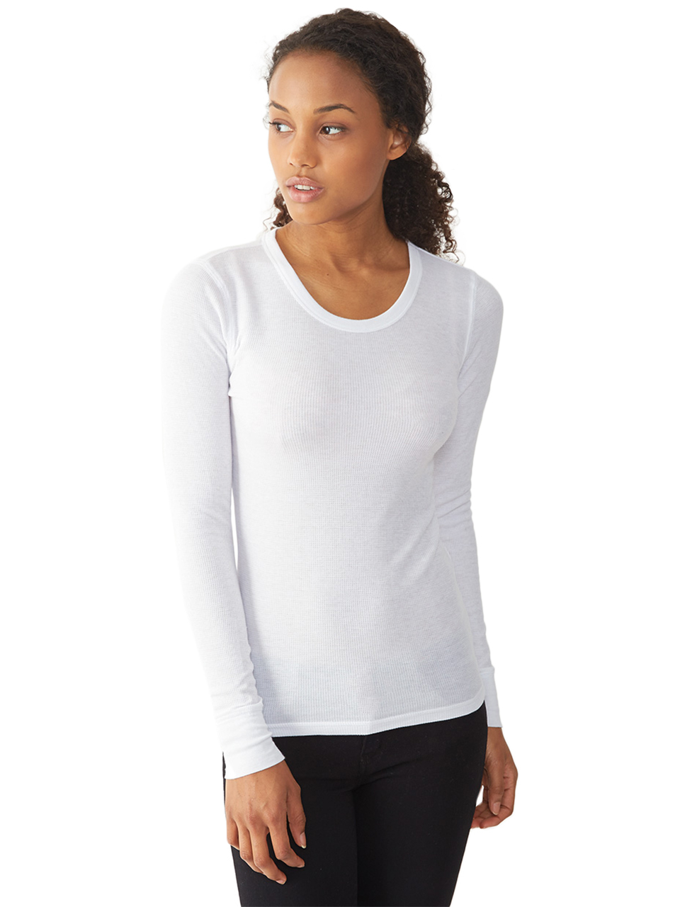 Lyst Alternative Apparel Basic Thermal Long Sleeve Crew