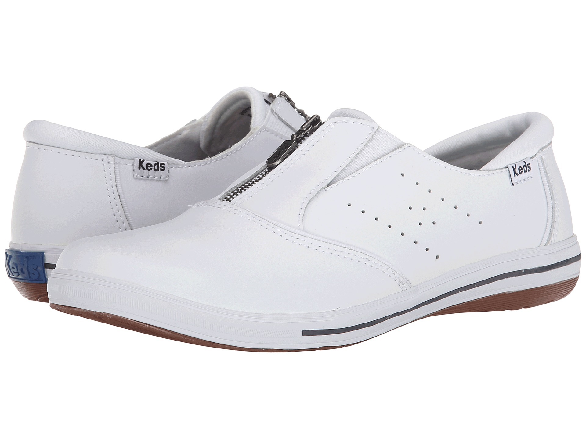 Keds Pacey Zip Smooth Leather in White