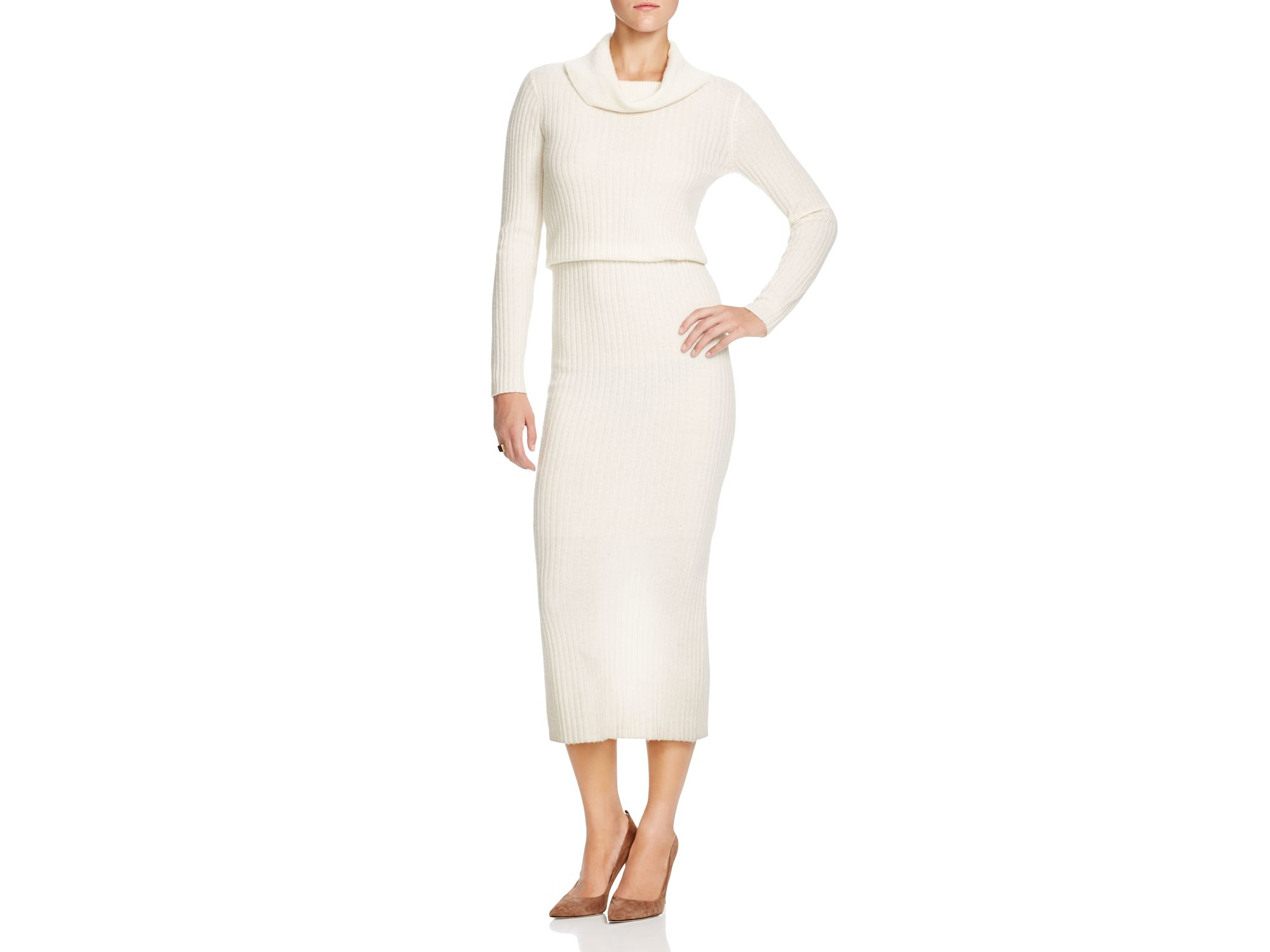 4aa5a0cf25 Lyst - Alice + Olivia Alice + Olivia Hailee Ribbed Sweater Dress in ...